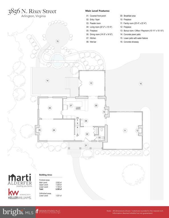 Main level Floor plans - 3856 N RIXEY ST, ARLINGTON
