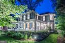 Elegant Evening View of The Front Exterior - 4721 CUMBERLAND AVE, CHEVY CHASE