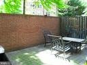 private patio off rec room with gate to lawn - 2 S MONTANA ST, ARLINGTON