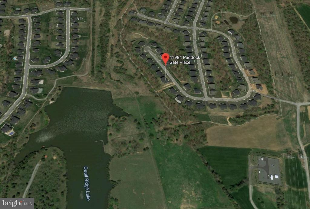 The property backs to Quail Ridge Lake - 41984 PADDOCK GATE PL, ASHBURN