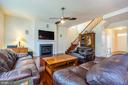 Family room with cozy gas fireplace - 24496 LENAH TRAILS PL, ALDIE