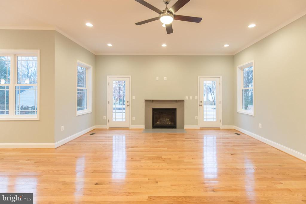 Family Room wit Gas Fireplace - 8317 ROLLING RD, SPRINGFIELD