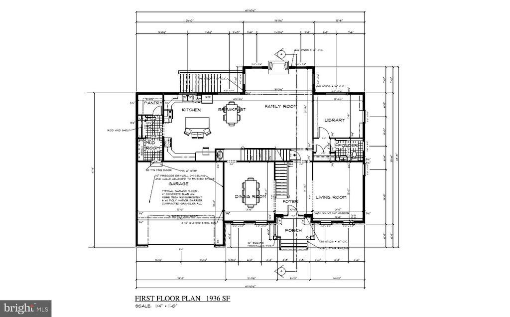 Main Level Floor Plan - 8317 ROLLING RD, SPRINGFIELD
