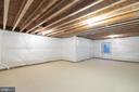 Unfinished basement for endless~possibilities - 8317 ROLLING RD, SPRINGFIELD