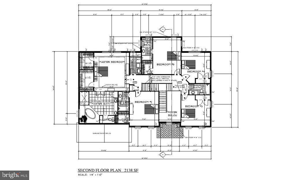 Upper Level Floor Plan - 8317 ROLLING RD, SPRINGFIELD