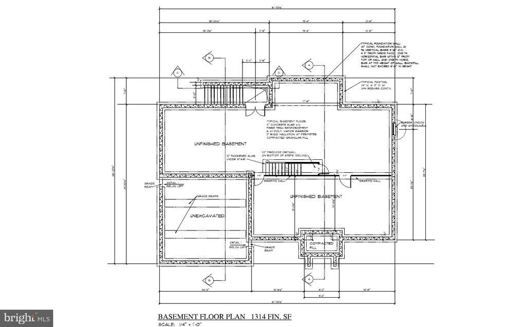 Basement Floor Plan - 8317 ROLLING RD, SPRINGFIELD