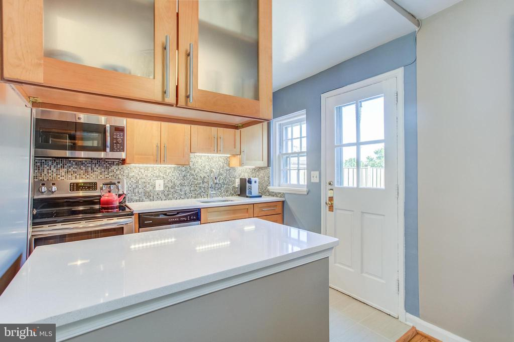 Glass Cabinets, Quartz Counters - 3232 S STAFFORD ST, ARLINGTON