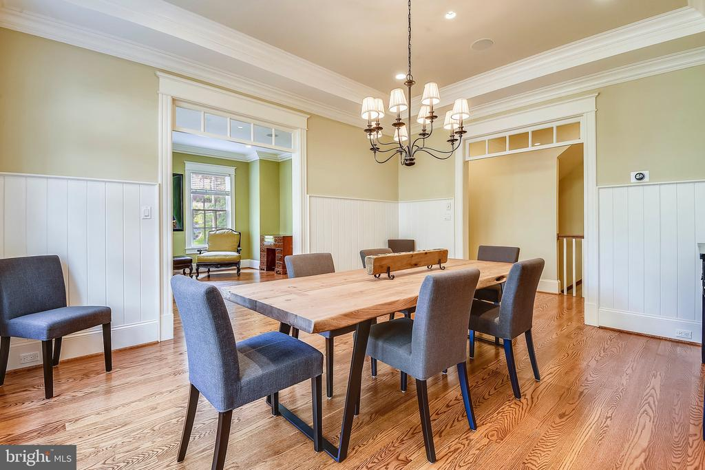 Dining Room with transom windows at the entry - 2326 VERMONT ST N, ARLINGTON