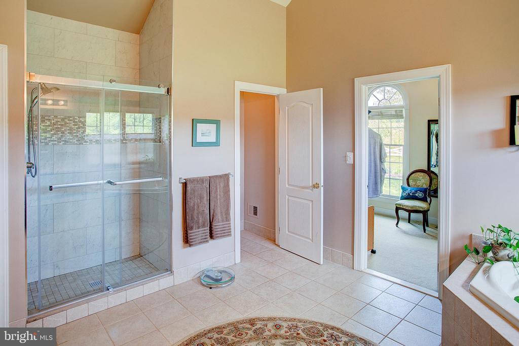 Upgraded walk in shower. - 41045 STUMPTOWN RD, WATERFORD