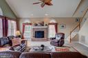 Back staircase to the family room. - 41045 STUMPTOWN RD, WATERFORD