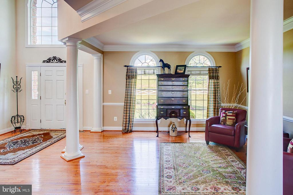 Wood floors and stately columns. - 41045 STUMPTOWN RD, WATERFORD