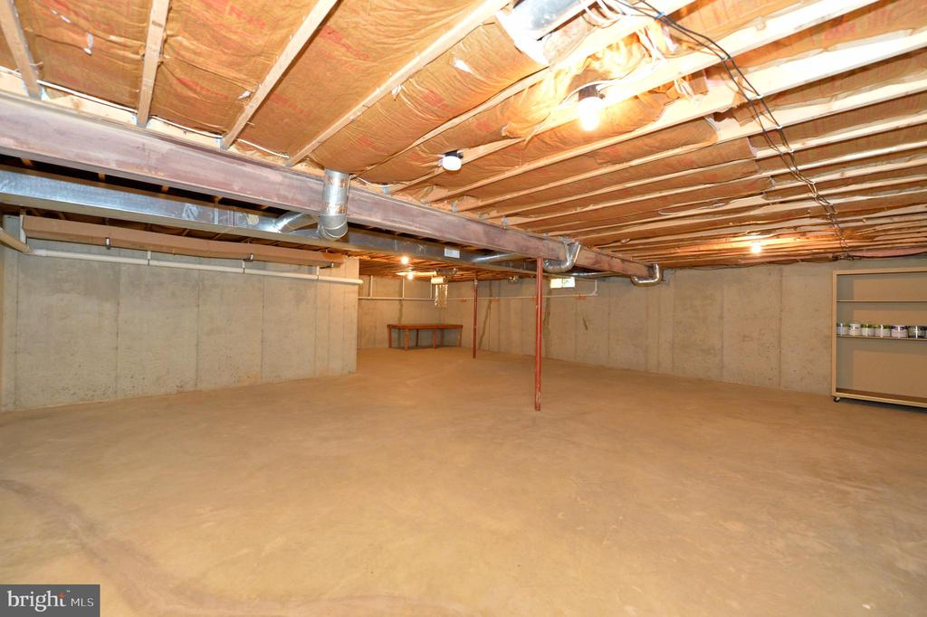 Use your imagination in the unfinished basement - 20257 REDROSE DR, STERLING