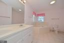 Master bath with separate jacuzzi tub - 20257 REDROSE DR, STERLING