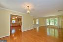 Living room with hardwood - 20257 REDROSE DR, STERLING