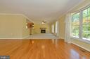 Living room with hardwoods - 20257 REDROSE DR, STERLING
