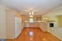 Kitchen with hardwoods - 20257 REDROSE DR, STERLING