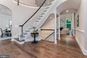 Custom built grand entrance. - 10630 TIMBERIDGE RD, FAIRFAX STATION