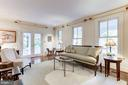 Living Room With Original 1901 Hardwoods - 4721 CUMBERLAND AVE, CHEVY CHASE