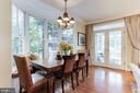 Breakfast Room with Built In Banquette - 4721 CUMBERLAND AVE, CHEVY CHASE