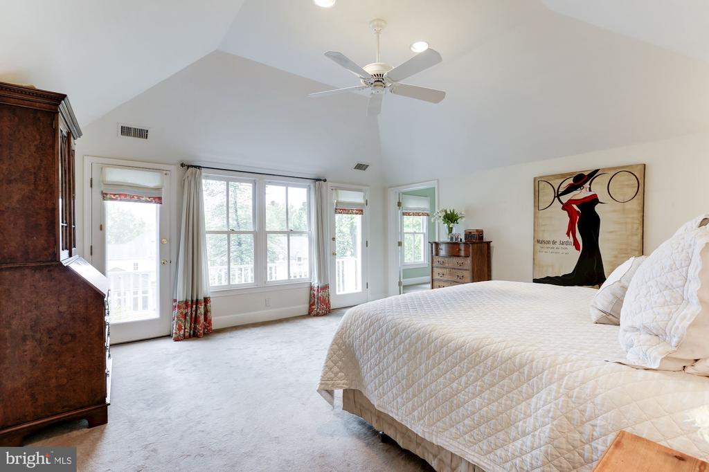 Master Bedroom with Vaulted Ceiling  and Porch - 4721 CUMBERLAND AVE, CHEVY CHASE
