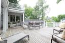 Enormous Deck Perfect for Alfresco Entertaining - 4721 CUMBERLAND AVE, CHEVY CHASE