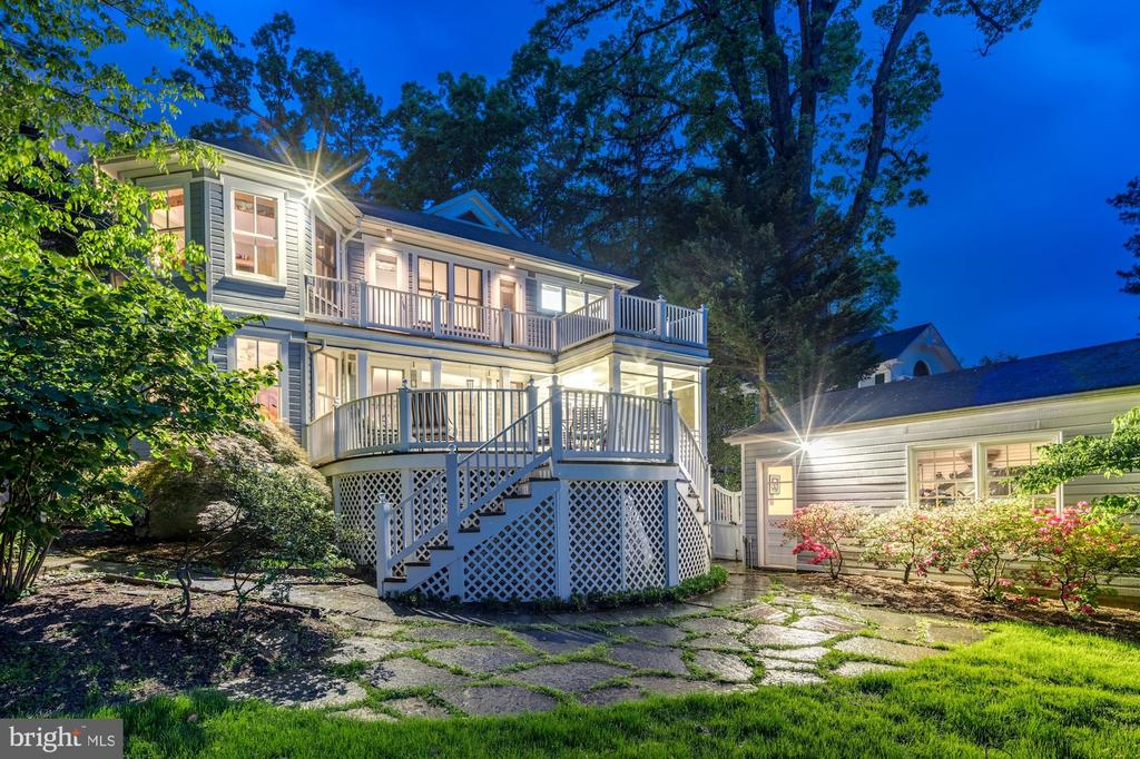 Rear Evening View - 4721 CUMBERLAND AVE, CHEVY CHASE