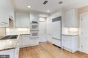 Kitchen with Sub Zero and Gas Cook Top - 4721 CUMBERLAND AVE, CHEVY CHASE
