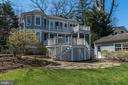 Rear Property View - 4721 CUMBERLAND AVE, CHEVY CHASE