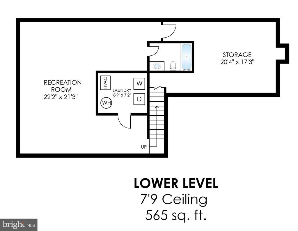 Lower Level Floor Plan - 20816 WATERBEACH PL, STERLING