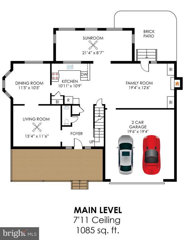 Main Level Floor Plan - 20816 WATERBEACH PL, STERLING
