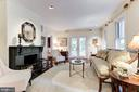Living Room with Original 1901 Fireplace - 4721 CUMBERLAND AVE, CHEVY CHASE