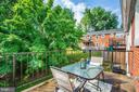 Terrific outdoor space with view of trees - 4600 28TH RD S #D, ARLINGTON