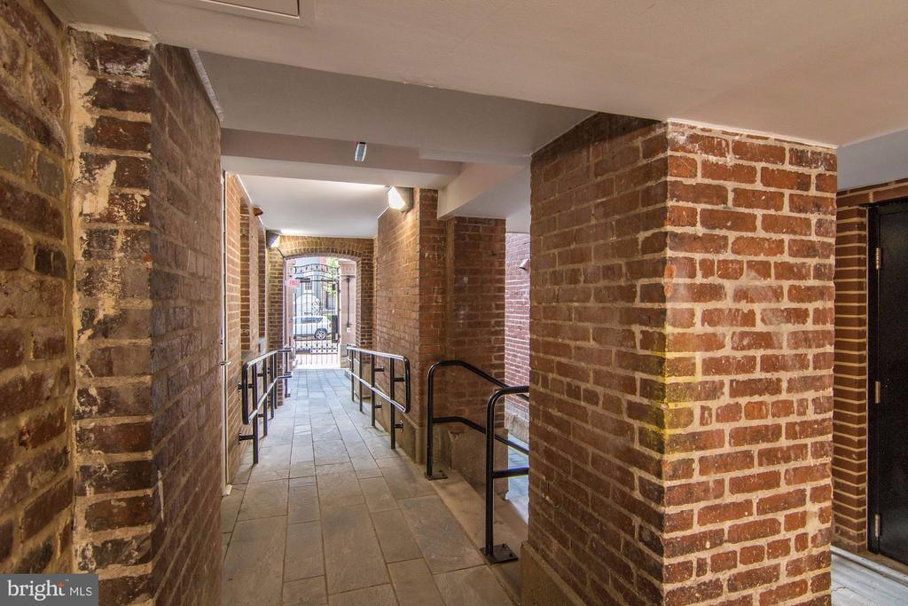 Lighted and secure all brick walk-way to the Flats - 1745 N ST NW #102, WASHINGTON