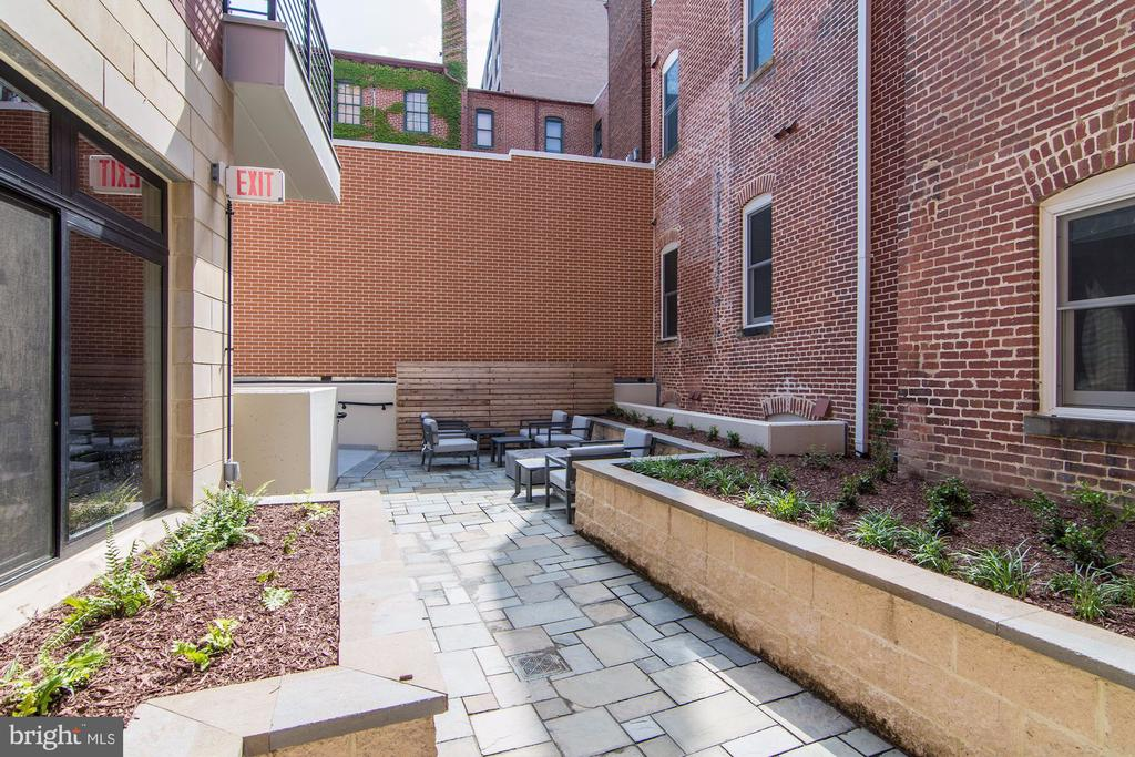 Common courtyard with grilling and fire pit - 1745 N ST NW #102, WASHINGTON