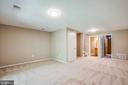 Basement level rec room - 3456 CALEDONIA CIR, WOODBRIDGE