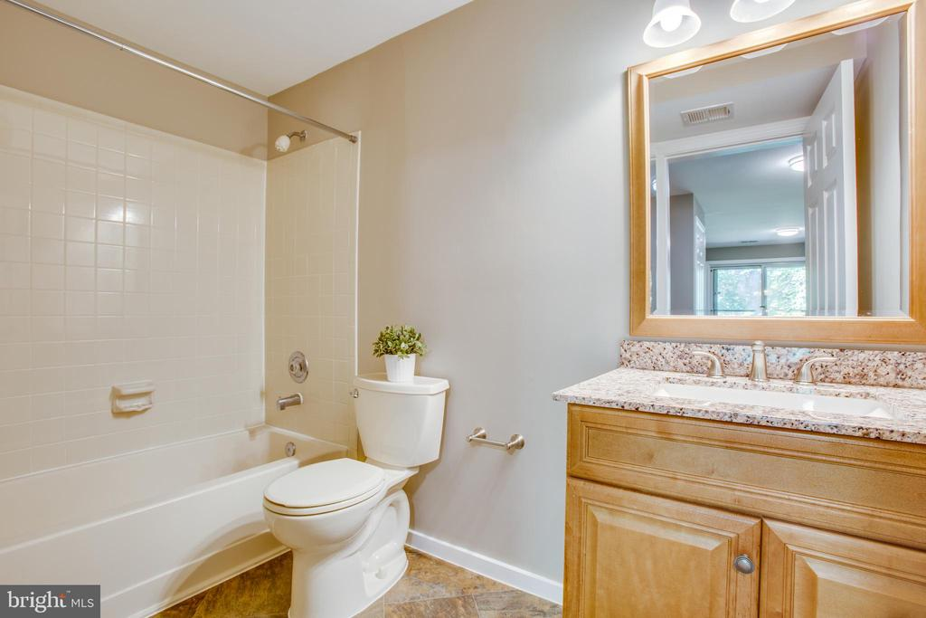 Basement level full bathroom -updated! - 3456 CALEDONIA CIR, WOODBRIDGE