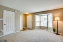 Large living space with a bright bay window - 3456 CALEDONIA CIR, WOODBRIDGE