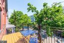 One of FIVE private decks - 2242 ONTARIO RD NW #3, WASHINGTON