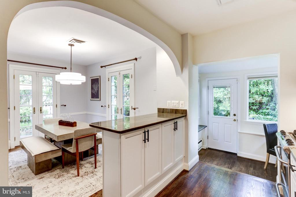 Kitchen connects to desk area, but is out of sight - 4700 RESERVOIR RD NW, WASHINGTON