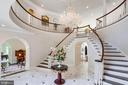 Dramatic circular rotunda in Grand Foyer entry - 10010 HIGH HILL PL, GREAT FALLS