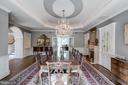 Custom lighting and tray ceiling with chandelier - 10010 HIGH HILL PL, GREAT FALLS