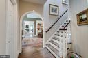 Entry to upper level Lounge w/stairs to 3rd level - 10010 HIGH HILL PL, GREAT FALLS