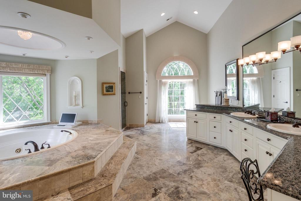 Spa inspired bath with cathedral ceilings - 10010 HIGH HILL PL, GREAT FALLS