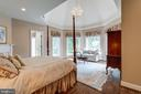 Bedroom Suite 2 with corner marble fireplace - 10010 HIGH HILL PL, GREAT FALLS