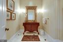 Elegant Powder Room - 10010 HIGH HILL PL, GREAT FALLS