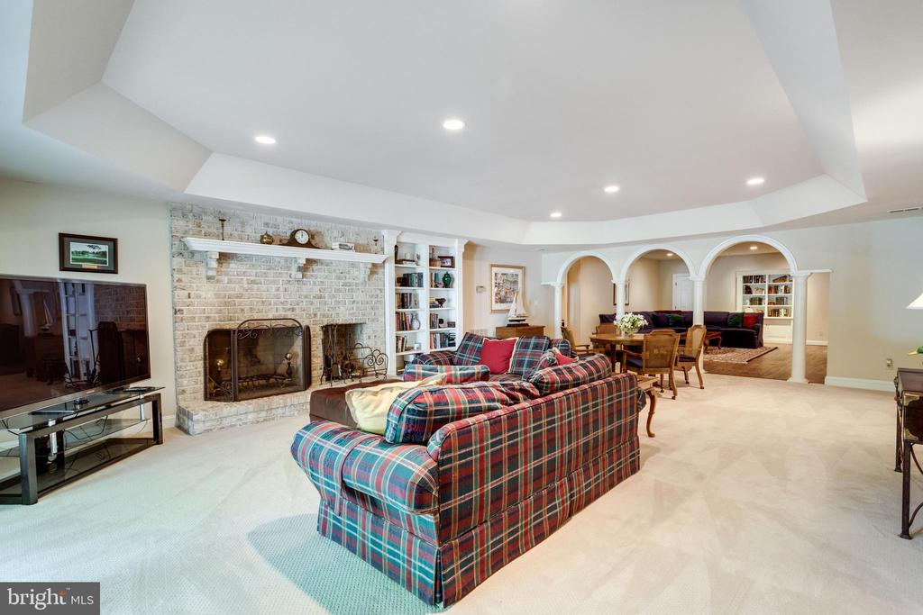 Recreation Room features wood burning fireplace - 10010 HIGH HILL PL, GREAT FALLS