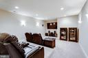 Media room with platform seating - 10010 HIGH HILL PL, GREAT FALLS