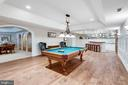 Billiards Room  w/ wainscoting - 10010 HIGH HILL PL, GREAT FALLS