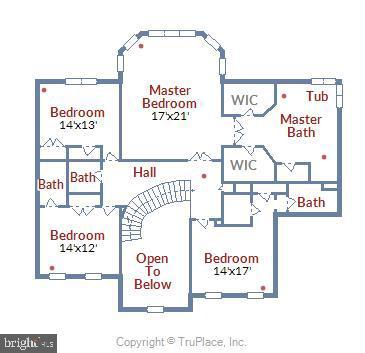 Upper Level Floor Plan - 41371 RASPBERRY DR, LEESBURG