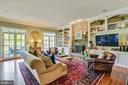 Family Room with Floor to Ceiling Stone Fireplace - 41371 RASPBERRY DR, LEESBURG